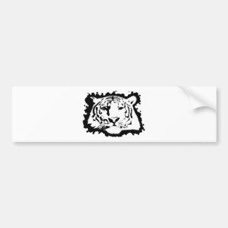 Cabeza 2 del tigre pegatina de parachoque