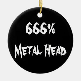 cabeza 666%Metal Adorno Redondo De Cerámica