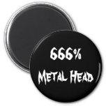 cabeza 666%Metal Imán Para Frigorifico