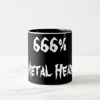 cabeza 666%Metal Taza Dos Tonos