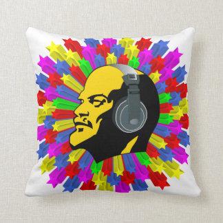 Cabeza abstracta de Lenin en círculo de la estrell Cojín