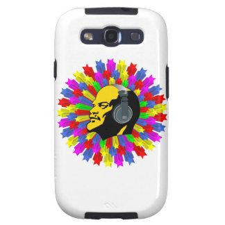 Cabeza abstracta de Lenin en círculo de la estrell Samsung Galaxy S3 Funda