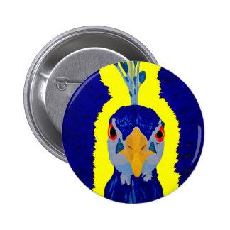 Cabeza abstracta del pavo real pin