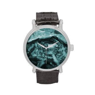 Cabeza adornada de la tortuga de madera encendido  relojes de pulsera