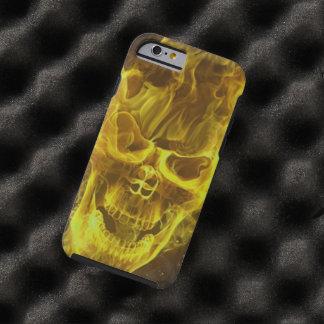 cabeza amarilla del cráneo de la llama funda de iPhone 6 tough