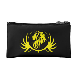 Cabeza amarilla majestuosa del león