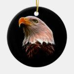 Cabeza americana de Eagle calvo Ornamento Para Arbol De Navidad