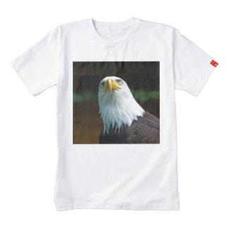 Cabeza americana de Eagle calvo Playera Zazzle HEART