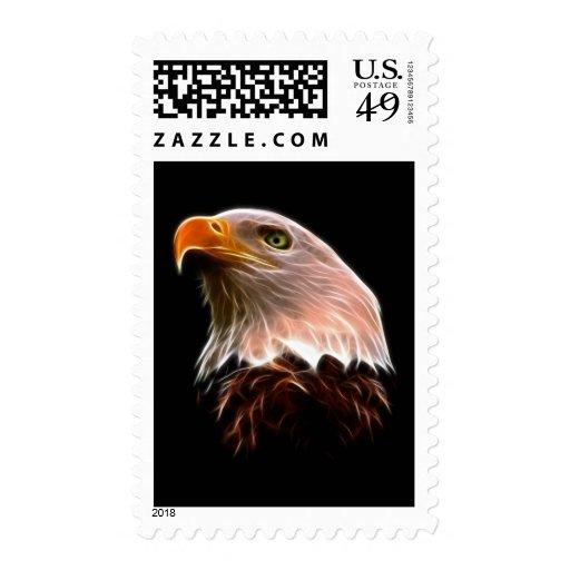 Cabeza americana de Eagle calvo Sellos