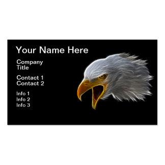 Cabeza americana de griterío de Eagle calvo Tarjetas De Visita