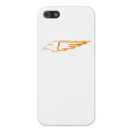 Cabeza anaranjada de Eagle iPhone 5 Cárcasa