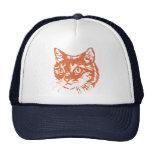 Cabeza anaranjada del gato del gatito gorras