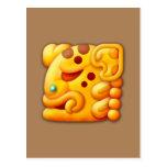 Cabeza ardiente del animal del maya postal