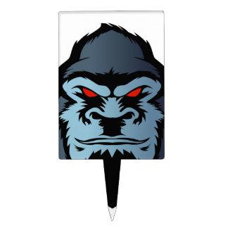 cabeza azul del gorila figura para tarta