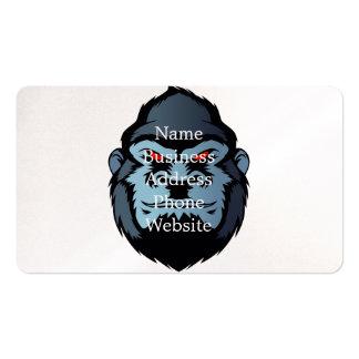 cabeza azul del gorila tarjetas de visita