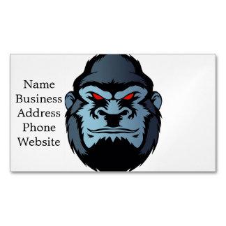 cabeza azul del gorila tarjetas de visita magnéticas (paquete de 25)