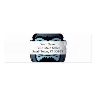 cabeza azul del gorila tarjetas de visita mini