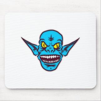 Cabeza azul del monstruo del Goblin Tapetes De Raton