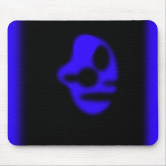 Cabeza azul alfombrillas de ratón