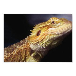 Cabeza barbuda 2 del dragón invitación 8,9 x 12,7 cm