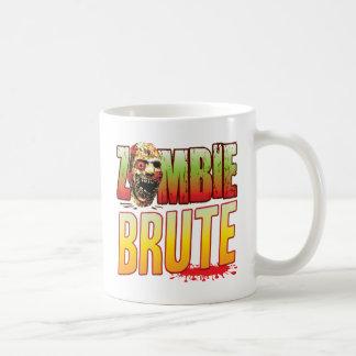 Cabeza bruta del zombi taza de café