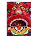 Cabeza china del dragón felicitación