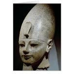 Cabeza colosal de Amenhotep III, del al-Qurnah Tarjeta De Felicitación