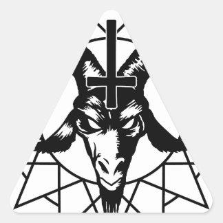 Cabeza con la estrella del caos (negro) pegatinas de triangulo personalizadas