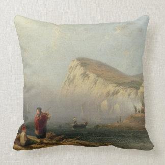 Cabeza con playas, 1850 (aceite en lona) almohada