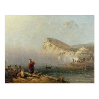 Cabeza con playas 1850 aceite en lona tarjeta postal