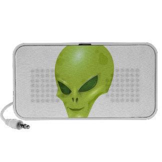 cabeza cósmica marciana extranjera del verde de la altavoces de viajar