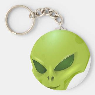 cabeza cósmica marciana extranjera del verde de la llavero personalizado