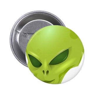 cabeza cósmica marciana extranjera del verde de la pin
