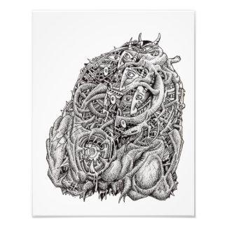Cabeza cosmográfica, por Brian Benson, impresión Fotografías