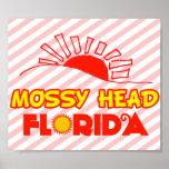 Cabeza cubierta de musgo, la Florida Poster