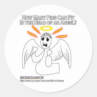 Cabeza de alfiler del ángel etiquetas redondas
