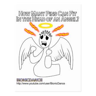Cabeza de alfiler del ángel postales