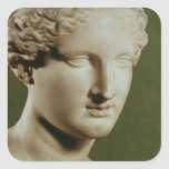 Cabeza de Artemis Pegatina Cuadrada