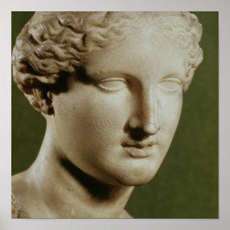 Cabeza de Artemis Póster