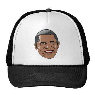 Cabeza de Barack Obama del vector Gorros Bordados