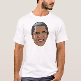Cabeza de Barack Obama del vector Playera