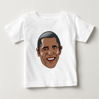 Cabeza de Barack Obama del vector Playera De Bebé