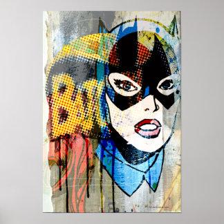 Cabeza de Batgirl Poster