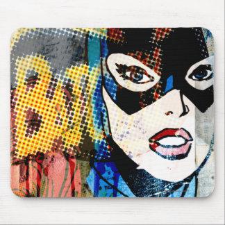 Cabeza de Batgirl Tapetes De Raton