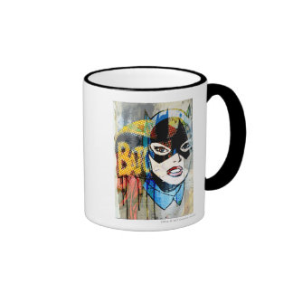 Cabeza de Batgirl Taza De Dos Colores