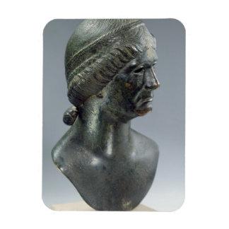 Cabeza de bronce de una mujer, identificada a vece imanes flexibles