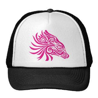 Cabeza de caballo abstracta rosada gorra
