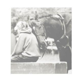 Cabeza de caballo blanco bloc de notas