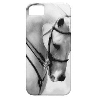 Cabeza de caballo blanco hermosa funda para iPhone 5 barely there