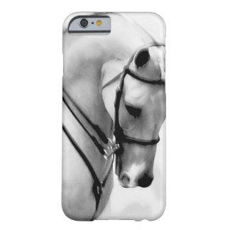 Cabeza de caballo blanco hermosa funda para iPhone 6 barely there